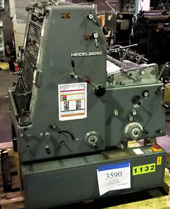 Heidelberg Gto 52 Offset Printing Press With Ductor Dampening Inventory 3590