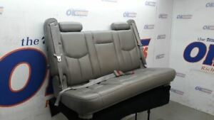 2000 01 02 03 04 05 06 Suburban Yukon Xl Third Row Rear Seat Gray Leather Bench