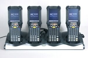 Lot Of 4 Symbol Mc9190 g30sweqc6wr Barcode Scanner Condensation Resistant