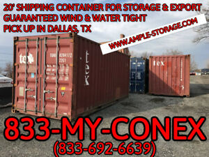 20 Shipping Container Cargo Worthy Dallas Tx