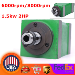 5 Bearing Spindle Unit Power Head Drilling Milling Boring Head 2hp 6000 8000rpm