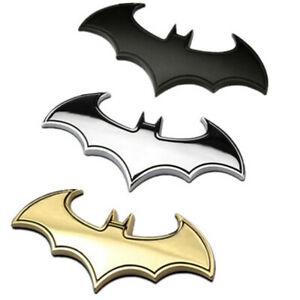 3d Batman Tail Logo Decal Car Motorcycle Logo Sticker Chrome Metal Badge Emblem