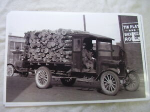 191 Ford Model T Flat Bed Loging Truck 11 X 17 Photo Picture