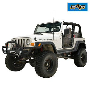 Eag Spider Web Tubular Door With Side Mirror Pair Fit For 97 06 Jeep Tj Wrangler