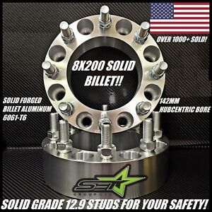 8x200 To 8x200 Wheel Spacers Adapters Ford F 350 Super Duty Dually 2 Inch