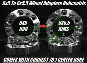 4 Wheel Adapters 6x5 To 6x5 5 6x127 To 6x139 7 Trailblazer Envoy 1 25 Inch