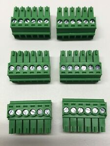 Phoenix Connector Phoenix Contact 6 Pin 3 5mm Speaker Terminal Block Set Of 6