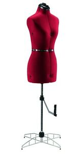 Singer Adjustable Dress Form Sized Large extra Large Red