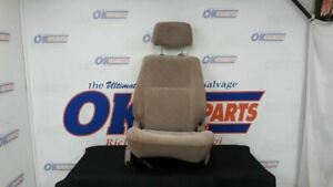 02 Toyota Tacoma Front Right Passenger Manual Seat Tan Cloth