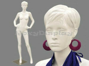 Highend Female Fiberglass White Mannequin Eye Catching Abstract Style md abbyw3