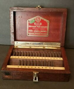 Pratt Whitney 1945 Hoke Precision Gage Blocks box Only Style 28e