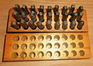 Vintage Steel Letter Stamp Set Antique Tool Punch Machine Shop Punch 27 Piece