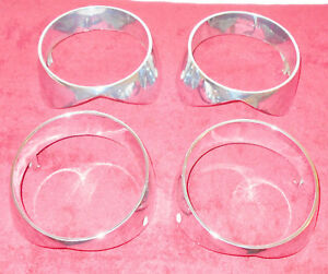 1964 Mercury Monterey Montclair Park Lane Orig Grille L R Head Light Trim Bezels