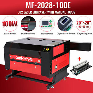 Omtech 100w 28x20in Co2 Laser Engraver Engraving With Ruida Rotary Axis New