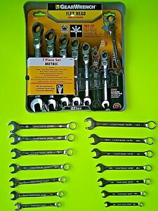 Gearwrench Metric Ratcheting Flex Head Wrench Set Craftsman Metric And Sae Set