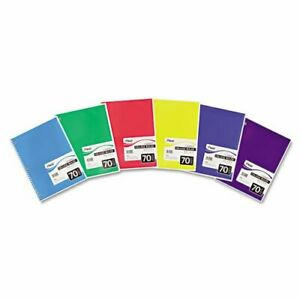 Mead 05512 Spiral Notebook Perforated College Rule 10 5 X 7 5 White 70 Sheets