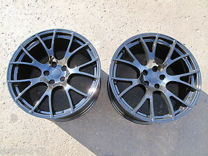 20 Factory Style Dodge Charger Srt Hellcat 20x10 Gloss Black Two Wheels Rims
