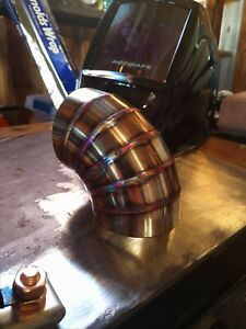 3 16 Gauge Tig Welded Vibrant Performance Exhaust Bend Pie Cut 304 Stainless