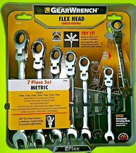 Gearwrench Metric Ratcheting Flex Head Combination Wrench Set Brand New