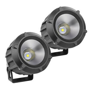 2x 50w Round Led Spot Driving Light Bar Flood Pods Motorcycle Offroad 4wd 12v 4
