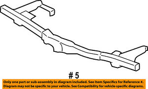 Ford Oem Rear Bumper Reinforcement 5l1z17906ba