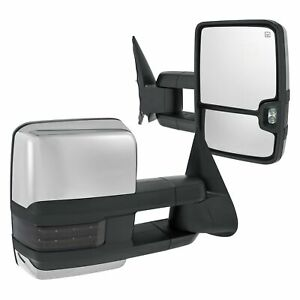 For Chevy Silverado 1500 Classic 07 Towing Mirrors Driver Passenger Side Power