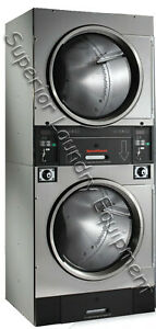 Speed Queen Stt30n Stack Dryer 30lb Coin 120v Gas Reconditioned