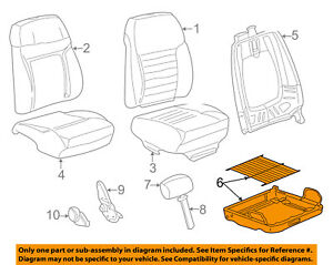 Ford Oem 99 03 Mustang Front Seat seat Cushion Frame Left Yr3z6363101ca