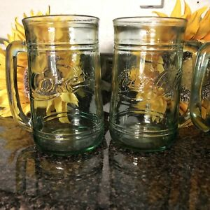 Coca Cola Mugs Set Of Five Condition Light Green