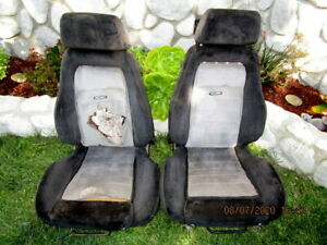 Original Recaro Seats 1970 S 1980 S Porsche Corvette Sports Car Race Car