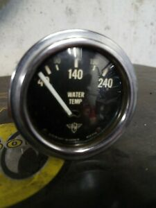 Vintage Stewart Warner Wings Water Temp Gauge Scta Vintage Hot Rod Ratrod Trog