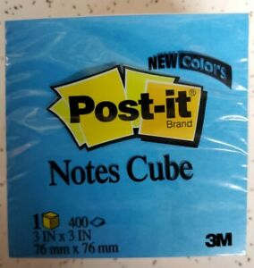 Post it Notes Cube 3 X 3 400 Count