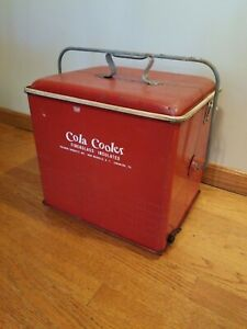 1950's Vintage Red Coca Cola Cooler Poloron Products Inc. Fiberglass Insulated