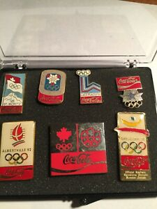 7 DIFFERENT COCA COLA OLYMPIC PINS