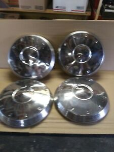 Vintage 1961 1962 Ford Dog Dish 10 1 2 Hubcaps Fairlane Galaxie Poverty