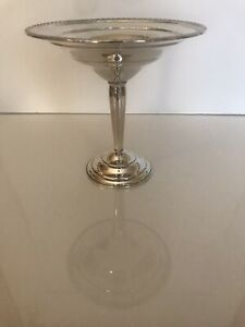 Vintage Weighted Sterling Silver Compote Dish 6 3 16 Inches High