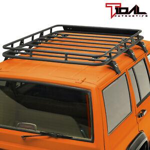 Tidal Fit 84 01 Jeep Cherokee Xj Cargo Roof Rack Rooftop W Wind Fairing