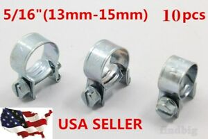 New 5 16 Fuel Injection Hose Clamp Auto Fuel Clamps 10pcs