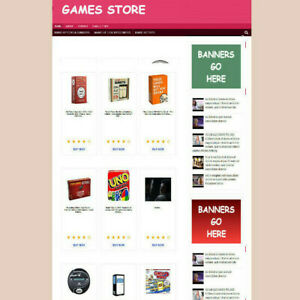 Childs Games Store Affiliate Website Free Domain With Hosting Blog Pages
