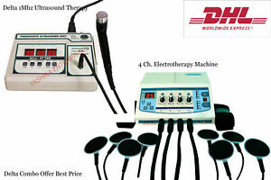 Physical Swelling Relief 1mhz Combo Electrotherapy Ultrasound Therapy Unit Ukjh