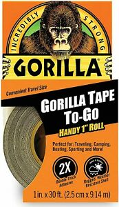 Black Gorilla Duct Tape Handy Roll All Weather Waterproof Adhesive Camping Usa