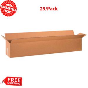 25 pack 36 X 6 X 6 Long Cardboard Corrugated Boxes 65lbs Capacity 200 ect 32