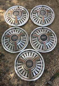 5 Vintage Original 1965 1966 1967 Chevy Chevelle Chevy Ii Nova Ss Hubcaps 14