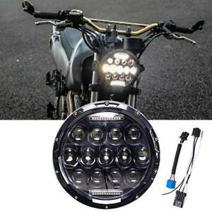 Dot Motorcycle 7 Round Headlight Cree Led Projector For Harley Cafe Racer Honda