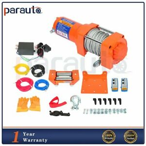3500lb Electric Winch Towing Trailer Steel Cable Off Road Remote Control 12v