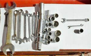 25 Bonney Tool Lot wrenches sockets Deep Well Mechanic Hand Tools