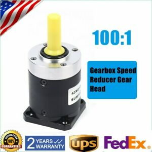 Top Nema17 Stepper Planetary Gearbox Speed Reducer Ratio 100 1 Planetary Gearbox