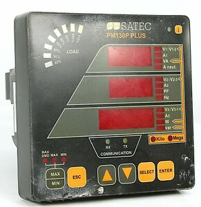 Satec Multi Functional 3 Phase Power Meter Pm130p Plus