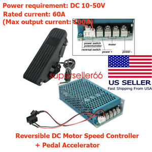 Reversible Dc Motor Speed Controller Pwm Control Soft Start Pedal Accelerator