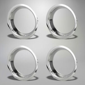 1968 1982 Corvette Rally Wheel Polished Stainless Trim Rings Car Set Of 4 604925